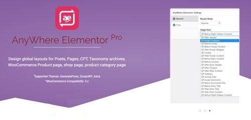 AnyWhere Elementor Pro v2.5 - Add-On For Elementor Pro