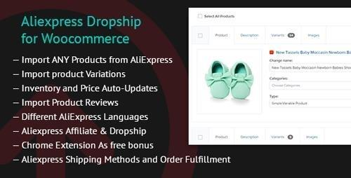 CodeCanyon - Aliexpress Dropship for Woocommerce v1.3.4 - 19821022