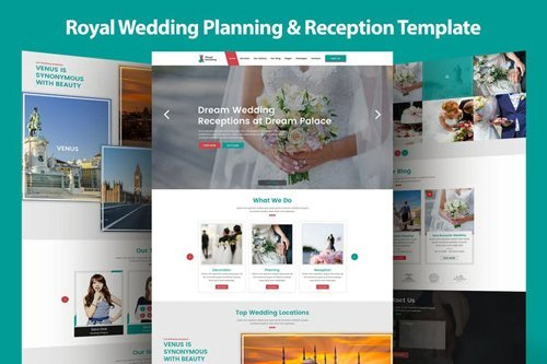 Royal Wedding Planning & Reception Template