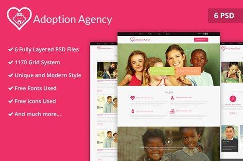 Adoption Agency PSD Website Template - CM 2171959