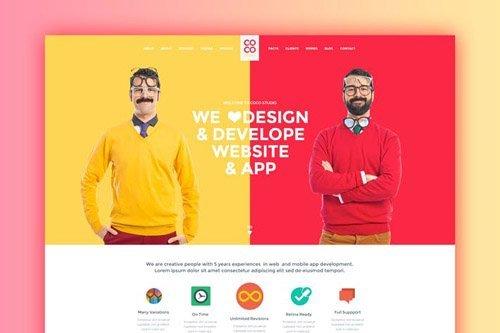 Coco - Creative PSD Template