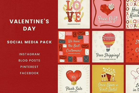 Valentines Day Social Pack 2162718