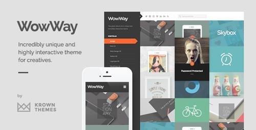 ThemeForest - WowWay v2.1.4 - Interactive & Responsive Portfolio Theme - 2374321