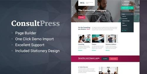 ThemeForest - ConsultPress v1.5.0 - WordPress Theme for Consulting and Financial Businesses - 19291288