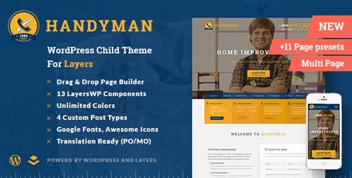 ThemeForest - Handyman v1.4.4.4 - Craftsman Business WordPress Theme - 12249679