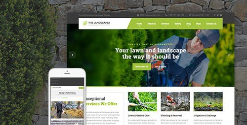 ThemeForest - The Landscaper v1.4.8.1 - Lawn & Landscaping WP Theme - 13460357