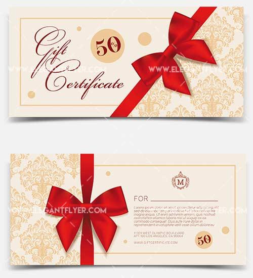 Gift Certificate V1 2018 PSD Template