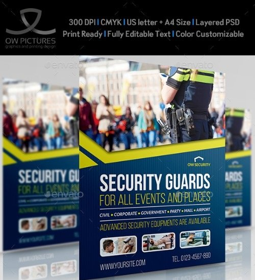 Security Guards Flyer Template 21263322