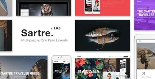 ThemeForest - Sartre v1.0.8 - Creative Multipurpose HTML Template - 13912008