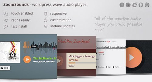 CodeCanyon - ZoomSounds v3.40 - WordPress Visual Composer Waveform Audio Player - 19376594