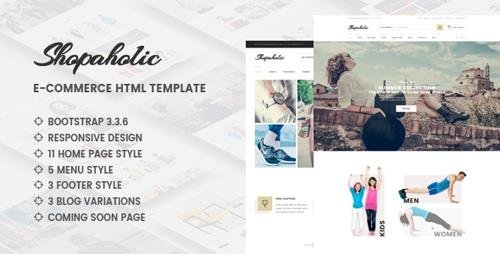 ThemeForest - Shopaholic v1.0 - Responsive Multipurpose eCommerce HTML5 Template - 16862751