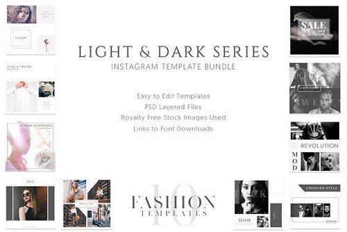 Light and Dark Instagram Templates - CM 2198068