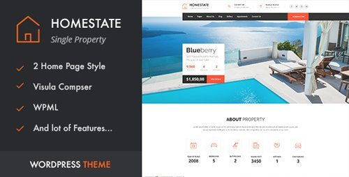 ThemeForest - HOME STATE v1.2 - Single Property Real Estate WordPress Theme - 16646943