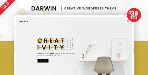 Darwin 2.0   Creative WordPress Theme by DigitalHeaps