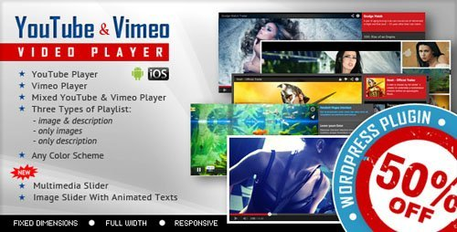 CodeCanyon - Youtube Vimeo Video Player and Slider WP Plugin v2.7 - 10675820