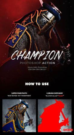 Champion Photoshop Action 21213636
