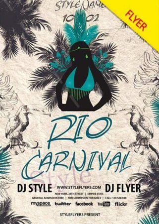 Rio Carnival 2018 V5 PSD Flyer Template
