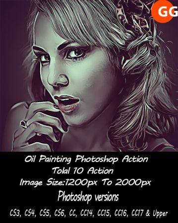 10 Oil Painting Photoshop Action 21167048