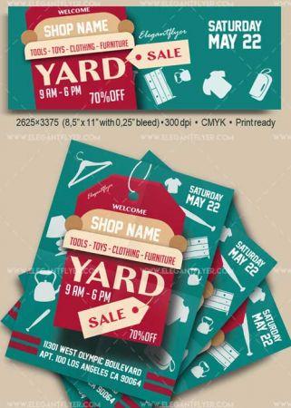 Yard Sale V1 2018 Flyer PSD Template + Facebook Cover