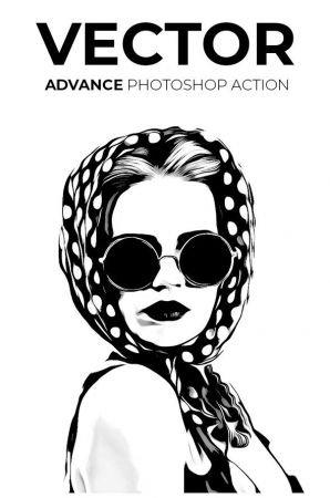 Vector Advance Photoshop Action 21245139