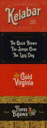 Kelabar - Vintage Typeface 2006453