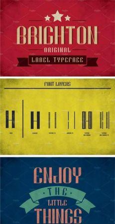 Brighton Vintage Label Typeface 2148400