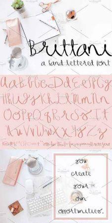 Brittani Script Font 2119177