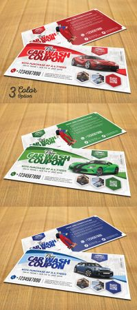 Car Wash Coupon PSD Templates