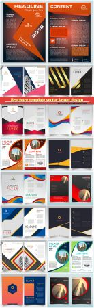 Brochure template vector layout design, corporate business annual report, magazine, flyer mockup # 113