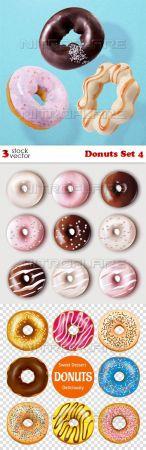 Vectors - Donuts Set 4
