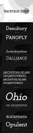 Backtalk Serif Font Family