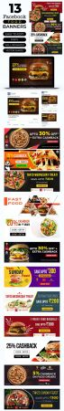 13 Social Media Food Banners PSD Templates