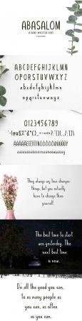 Abasalom  A Handwritten Font 2099259
