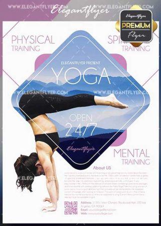 Yoga V1 2018 Flyer PSD Template + Facebook Cover