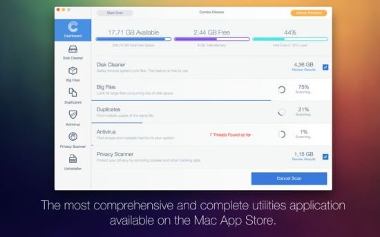 Combo Cleaner Antivirus Premium 1.1.5 macOS
