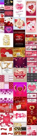 Happy Valentines Day Background - 45 Vector
