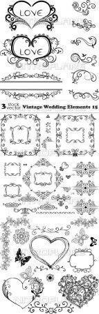 Vectors - Vintage Wedding Elements 15