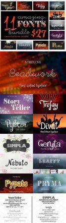 11 Amazing fonts bundle 2087727