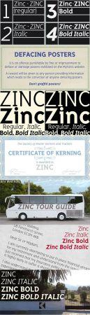 Zinc font family