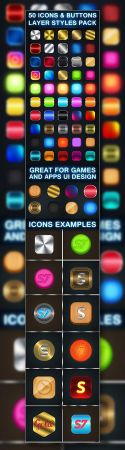 50 Photoshop Icon Styles Pack (ASLPSD)