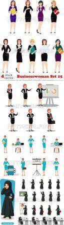 Vectors - Businesswoman Set 15