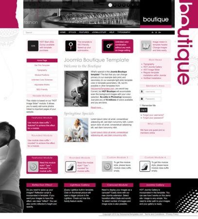 HotJoomlaTemplates - HOT Boutique - Joomla Template (Update 11 October 17)
