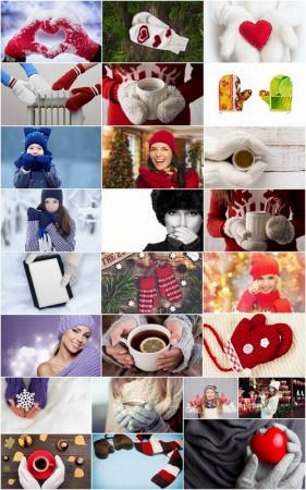 Warm winter clothes crocheted mittens gloves hot drink 25 HQ Jpeg