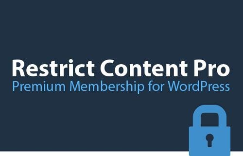Restrict Content Pro v2.9.8 - Powerful Membership Solution For WordPress + Add-Ons
