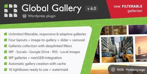 CodeCanyon - Global Gallery v6.0 - Wordpress Responsive Gallery - 3310108