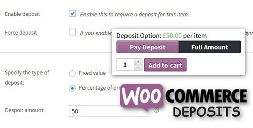 CodeCanyon - WooCommerce Deposits v2.2.4 - Partial Payments Plugin - 9249233