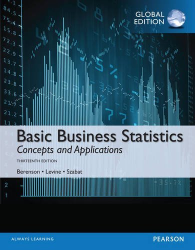 Mark L Berenson, David Levine,  Mark L Berenson – Basic Business Statistics, Global Edition