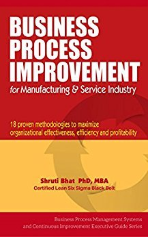 Dr. Shruti U. Bhat – Business Process Improvement For Manufacturing And Service Industry- 18 Proven Methodologies to Maximize Organizational