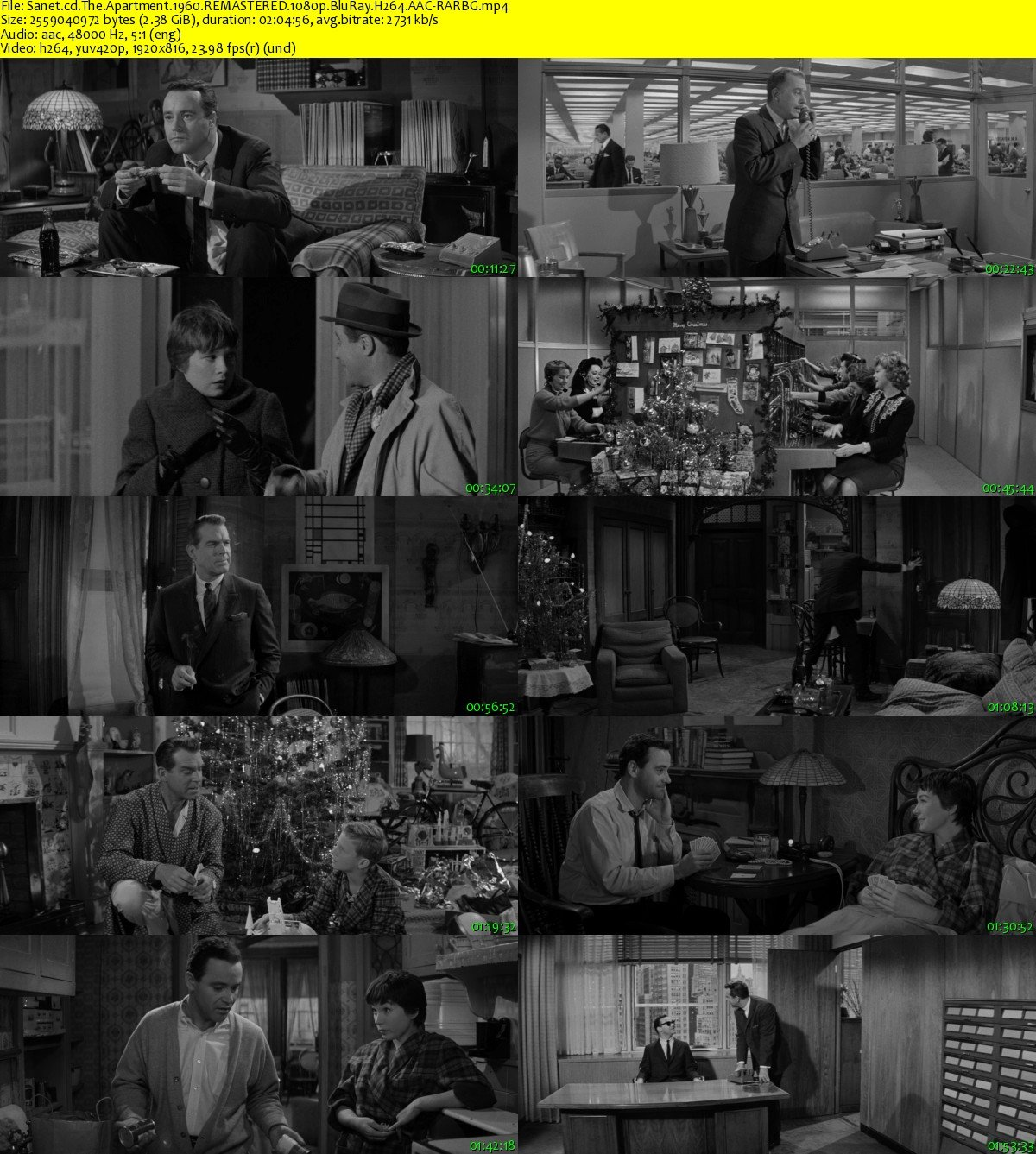 Imdb The Apartment: Download The Apartment 1960 REMASTERED 1080p BluRay H264