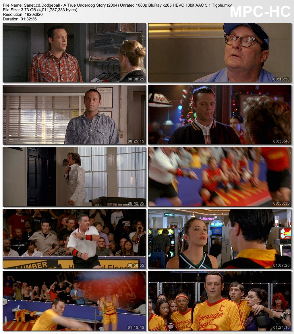 dodgeball  true underdog story  unrated p bluray  hevc bit aac